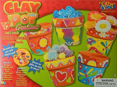 CLAY POT CREATIONS CRAFT KIT for AGE 6 PLUS, BRAND NEW