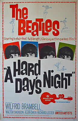 0330 Vintage Music Poster Art - The Beatles A Hard Days Night