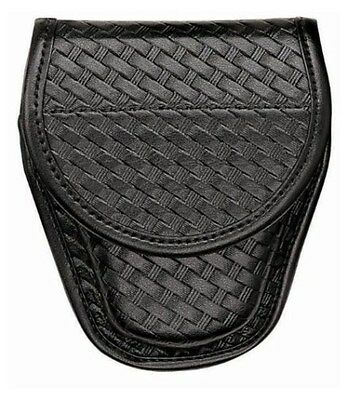 New Authentic Bianchi Covered Handcuff Case Basket Black Chrome 23101