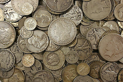 1 Ounce Junk U.S. Silver Coins pre 1964 90% SILVER mix lot of coins NO NICKELS