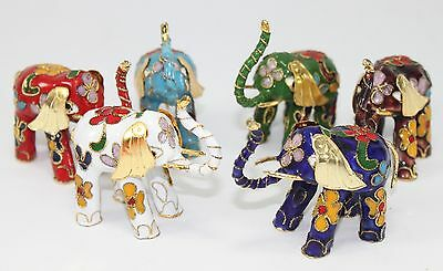 Home Decor Cloisonne Elephant Collections Feng Shui Statues Lucky Figurines
