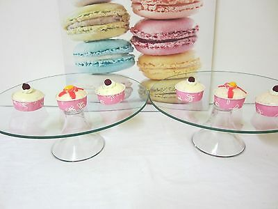 CLEARANCE- 2 for $30 LARGE Glass Cake Stand Cupcake stand Candy Lolly Buffet