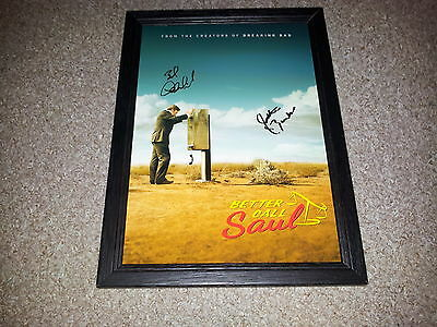 "Better Call Saul Pp Signed & Framed 12X8"" Photo Poster Bob Odenkirk"