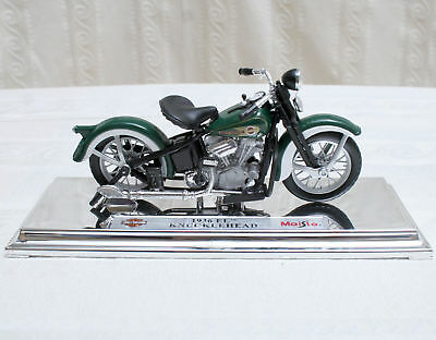 Harley Davidson 1936 EL KNUCKLEHEAD - DieCast Die Cast Model Scale 1:18 #HD100