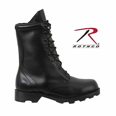 BLACK SPEEDLACE Combat Boots LEATHER army military police SWAT Mens Rothco 5094