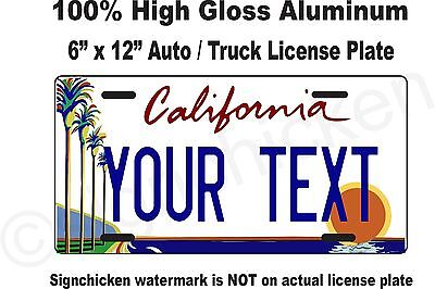 """California Custom Personalized State License Plate any text / Auto - 6"""" x 12"""""""