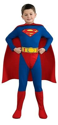 SUPERMAN Classic Child Costume Superhero Boys Outfit Man of Steel