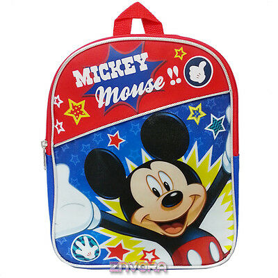 """Disney Mickey Mouse 11"""" Mini Toddler Backpack Bag"""