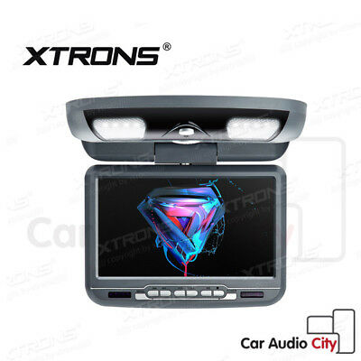 "9"" Grey HD Swivel Car Roof Ceiling mounted flip down Screen Monitor DVD Player"