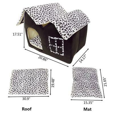 New Soft Warm Cotton Pet Dog Cat Bed House Kennel Cushion Basket Cottage Coffee