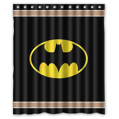 High Quality Brand New Batman Bathroom Waterproof Shower Curtain 60 x 72 Inch
