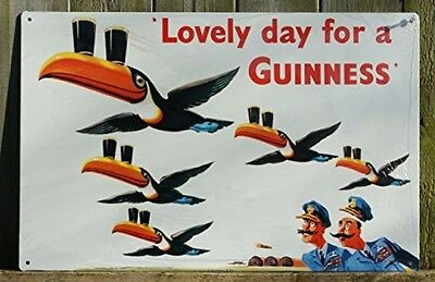 Lovely Day for a Guinness Metal Beer Sign, New, Free Shipping