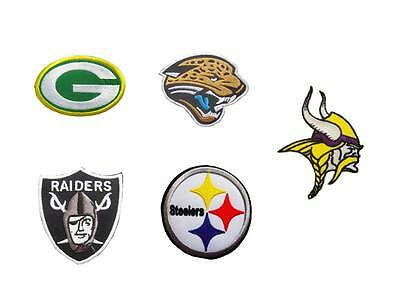 NFL, National Football league team patches. Embroidered iron or sew on patch.