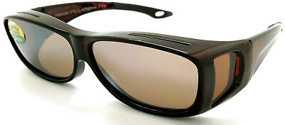 OTG Over-The-Glasses S Polarized  brown lens vented demi frame sideview -NEW