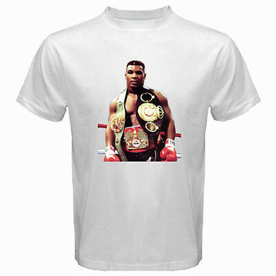 7783deb53b18 New MIKE TYSON IRON MIKE Real Boxing Champion Men s White T-Shirt Size S to