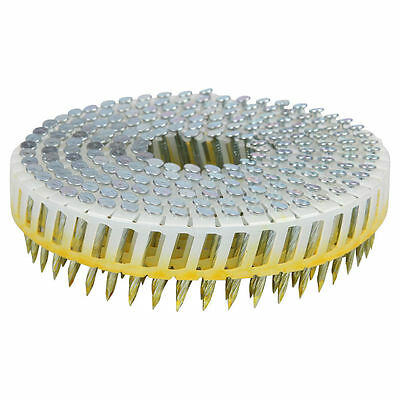 Airco Screw Shank Coil Electro Galvanised Hardened Steel NAILS 32x2.5mm 6000pcs