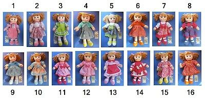 Bambola di pezza grande cm 50 in stoffa, My sweets collection, peluche pigotta