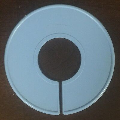 10 NEW Blank Blue Plastic Clothing Size Dividers Rack Ring Size Divider