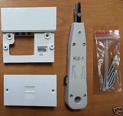 Genuine Phone Master Socket NTE5a w/bellwire + IDC Punch Tool BT Openreach type