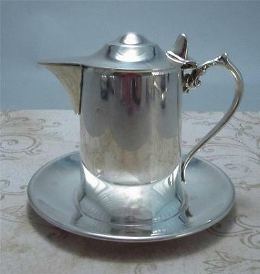 Wallace Silver Plated Cream Pitcher Ornate Handle