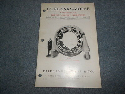 VINTAGE 1911 FAIRBANKS-MORSE CATECHISM on DIRECT CURRENT APPARATUS BULLETIN 25