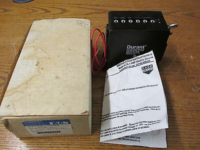 NEW NOS Durant Eaton 6-CS-1-RMF Electric Counter 115 Volts A/C