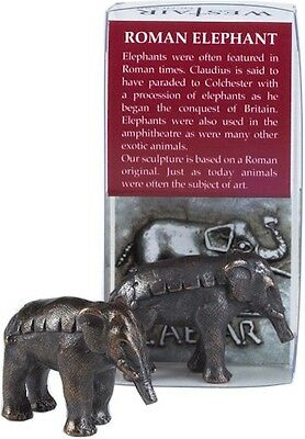Ancient Roman Elephant Hannibal Alps Miniature Statue 8783