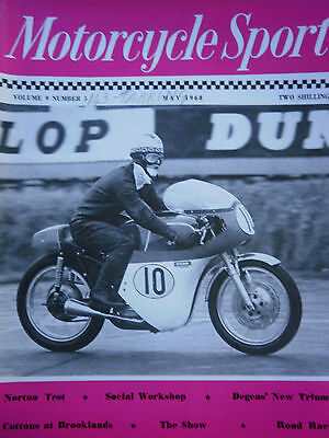 MOTORCYCLE SPORT MAGAZINE 05/68 - 496cc MATCHLESS AT SNETTERTON COVER