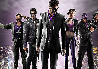 Saints Row 4 Gaming Glossy Wall Art Poster Print (A1 - A5 Sizes Available)