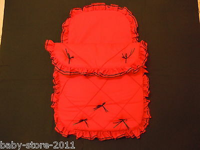 Beautiful Pram Quilt and Pillow case  Set suitable for MOST PRAMS COLOUR  RED