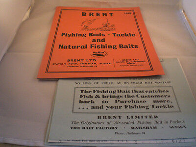 Vintage Brent Fishing Tackle Advertising Catalogue For 1970