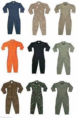 Flight Suit Military Air Force Style Flight Coveralls Camouflage or Solid Choos