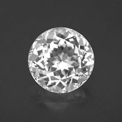 Genuine Natural Bright White Topaz AAA Rated Round Loose Gemstones (2mm-12mm)