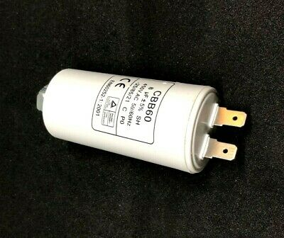 SIMPSON WESTINGHOUSE ELECTROLUX  DRYER RUN CAPACITOR 8uF 2pins 0588400004  0226