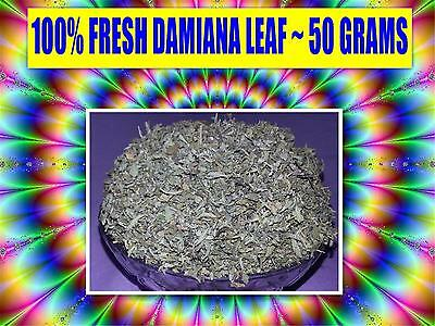 DAMIANA LEAF 50g ☆Turnera diffusa☆APHRODISIAC☆ WILDCRAFTED ☆ PREMIUM FREE POST