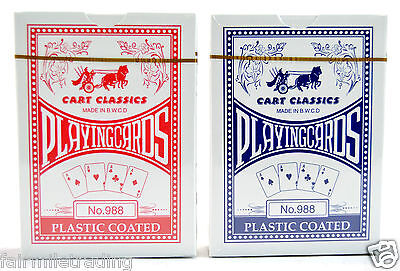 2 x Quality Pro Cart Plastic Coated Playing Cards Poker Size Bicycle Sealed Deck