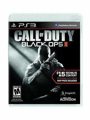 BRAND NEW FACTORY SEALED CALL OF DUTY BLACK OPS II 2 AND REVOLUTION MAP PACK PS3