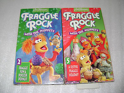 Fraggle Rock 2 - Fraggle Fun & Doozer Doings! (VHS, 1993) & #5 Festive Holiday