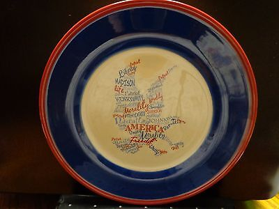 Red/White/Blue Eagle Decorative Plate