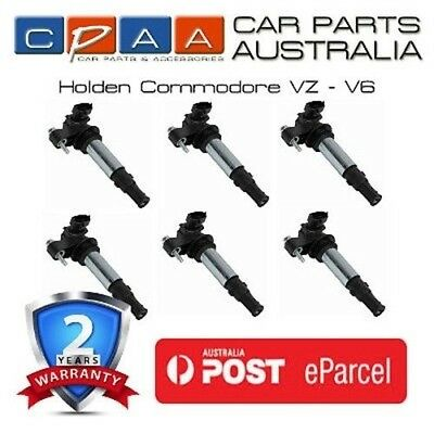 Brand New Ignition Coils x 6 - Holden Commodore VZ V6, RA Rodeo - 2 Yr Warranty
