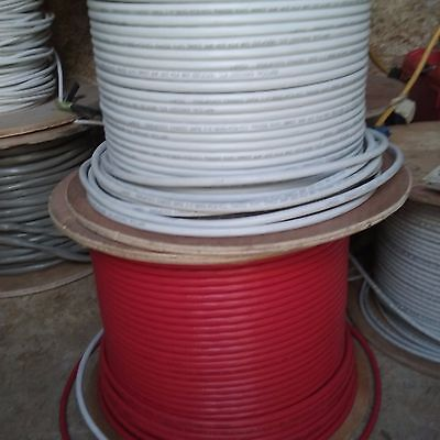 cat6 cable 25+ft length custom shielded bulk in off-white or red color