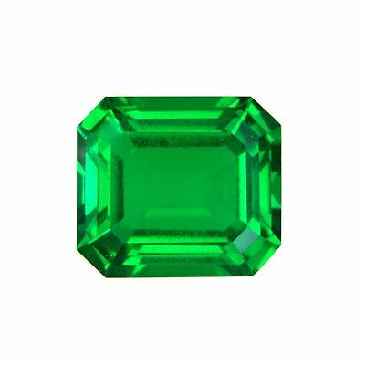 Lab Created Hydrothermal Colombian Emerald Octagon Loose stone (4x2-12x10mm)