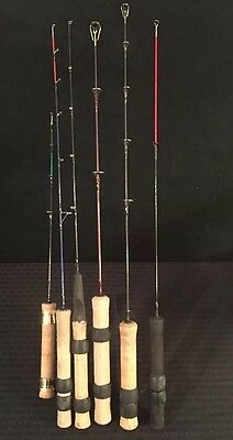 6 Ice Fishing Poles Rods South Bend Fabrill Mitchell NORTHWOODS HT Great Cond.