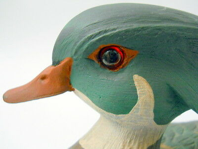 American Wild Fowl Series Wood Duck 1985 Signed Hand Carved Painted Water Bird