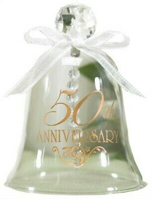 50th Anniversary Glass Bell