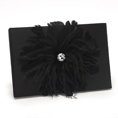 Black Feathered Flair Guest Book