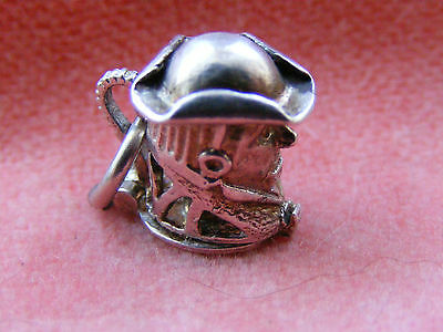 Vintage Sterling Silver Charm Toby Jug Opens