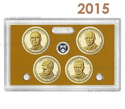 2015 S Proof Set PRESIDENTIAL Dollar 4 Coins w/o coa COIN PRESALE