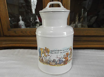 Vintage McCoy Large Kitchen Container with Delightful Print / 263