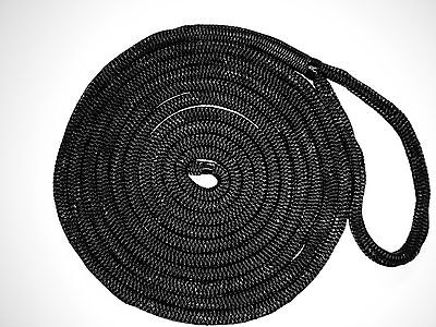 4.6m x 16mm Mooring Line,Dock Line,Mooring Rope Silky Soft Black Polyester-Nylo